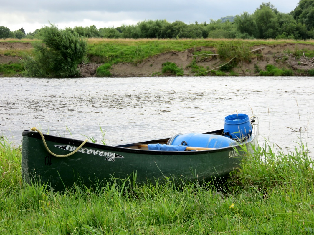Canoe and river