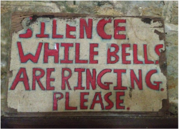 Silence while bells are ringing please