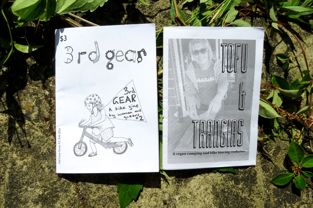 Photo of the two zines