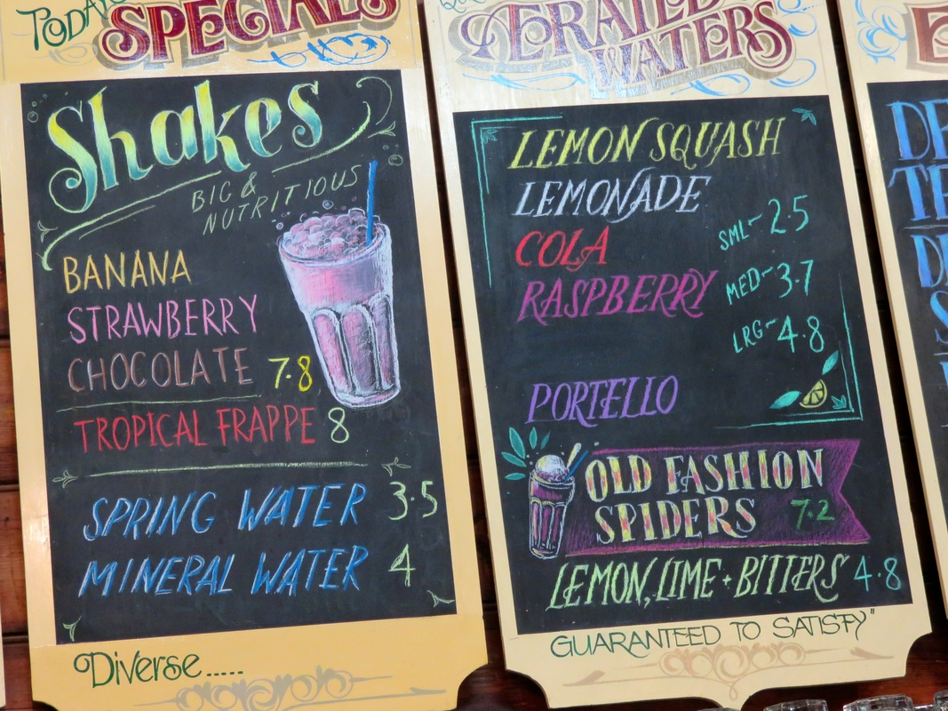 Chalkboard drinks menu