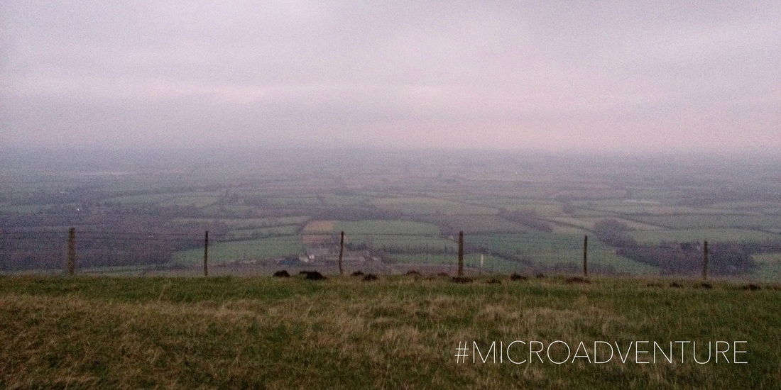 Microadventure view from hill