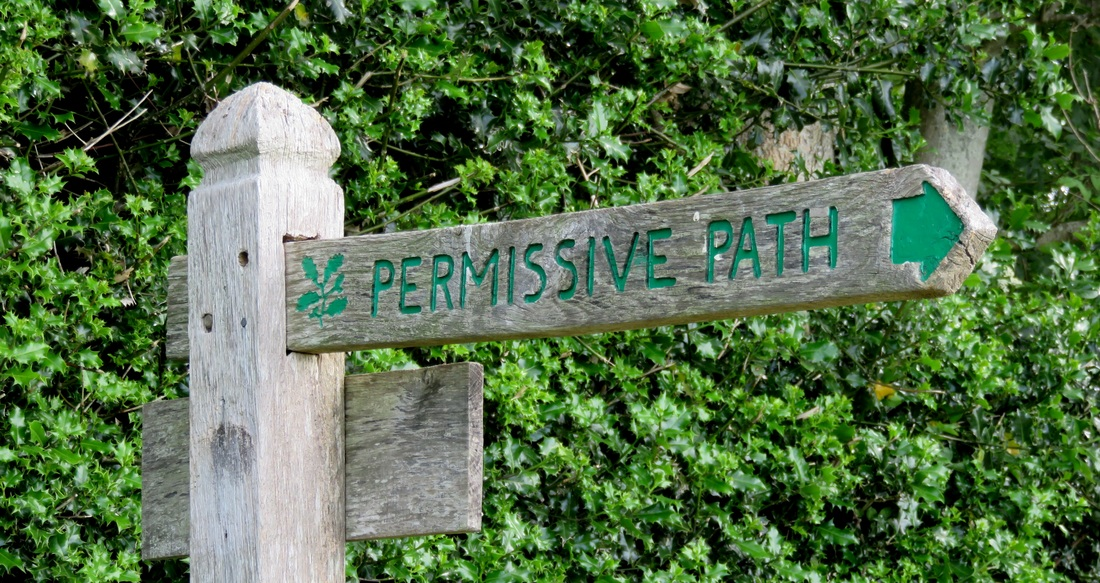 Permissive path fingerpost