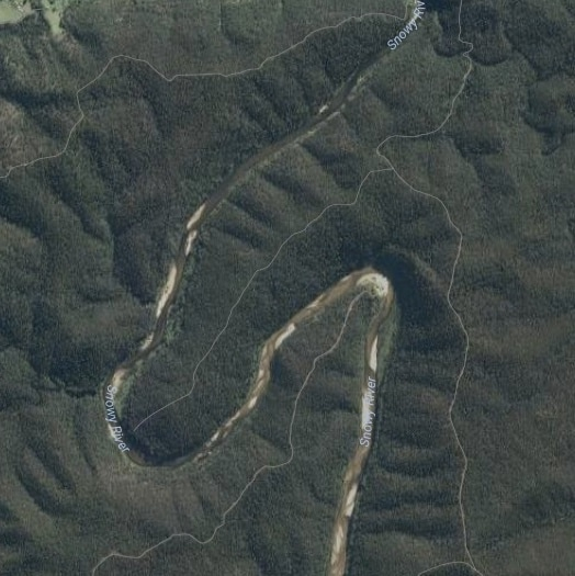 satellite view of river