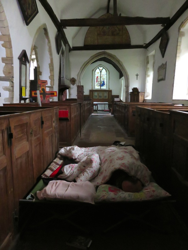 bed in church