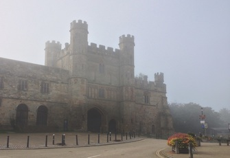 Battle Abbey in mist