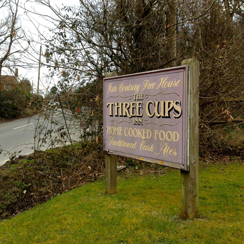 Three Cups Inn sign