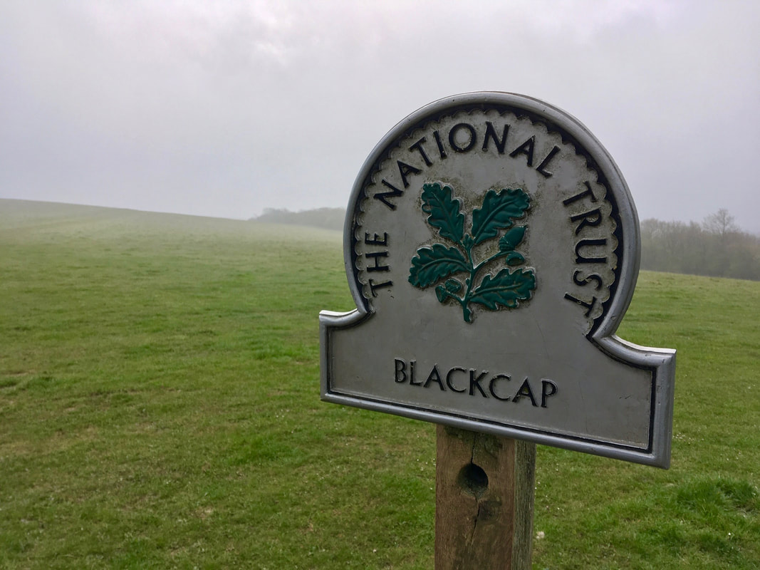 National Trust sign for Blackcap