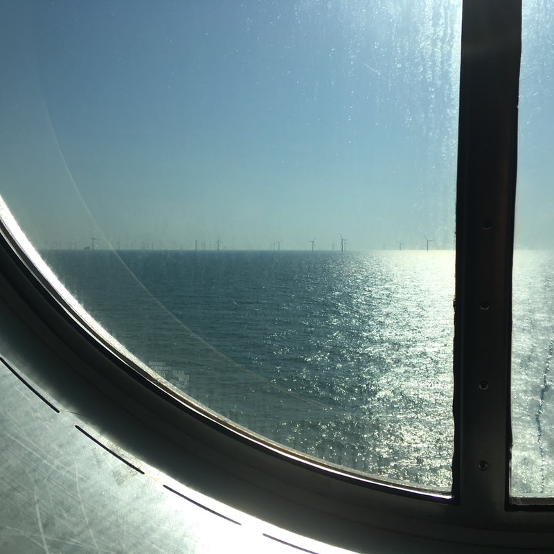 sea through a round window