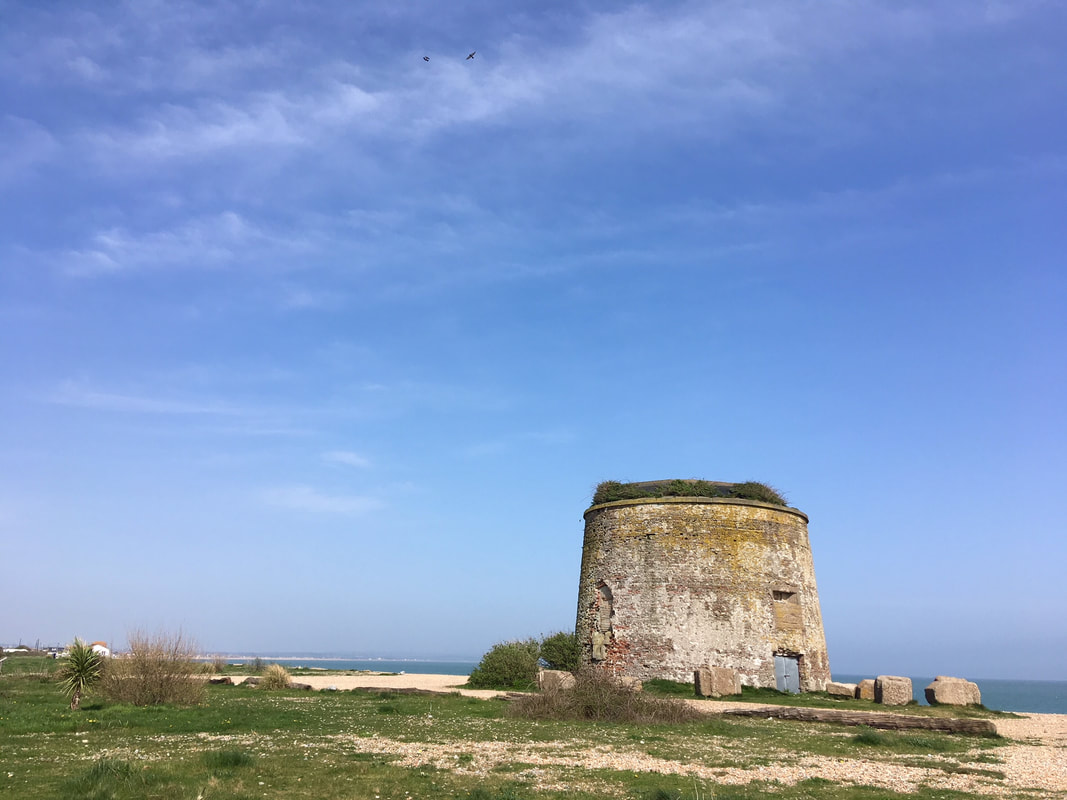 round ruined tower at seafront